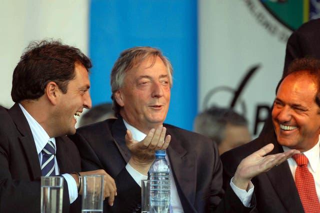Con Kirchner y Scioli en enero de 2009