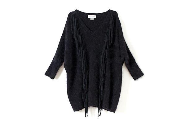 Sweater de lana con flecos (Paula Cahen D´Anvers). Foto: Erika Rojas. Coordinación y producción de producto: Josefina Rivero