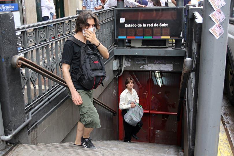 Servicios de trenes y subtes fueros suspendidos. Foto: LA NACION / Guadalupe Aizaga