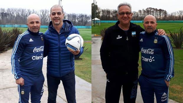 Los entrenadores de la selección argentina de fútbol, básquetbol y voleibol