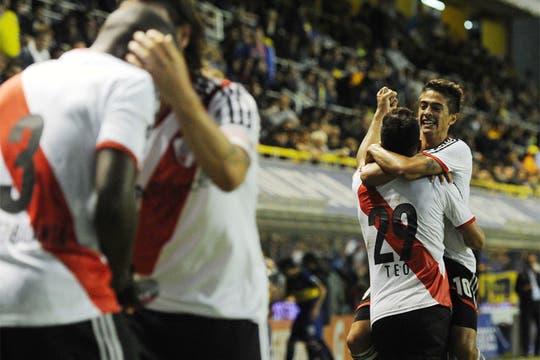 River le ganó a Boca 2 a 1 y es escolta en el torneo Final.Volvió a ganar en la Bombonera después de 10 años. Foto: Télam