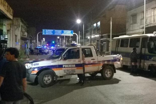 La policía, en el lugar de los incidentes