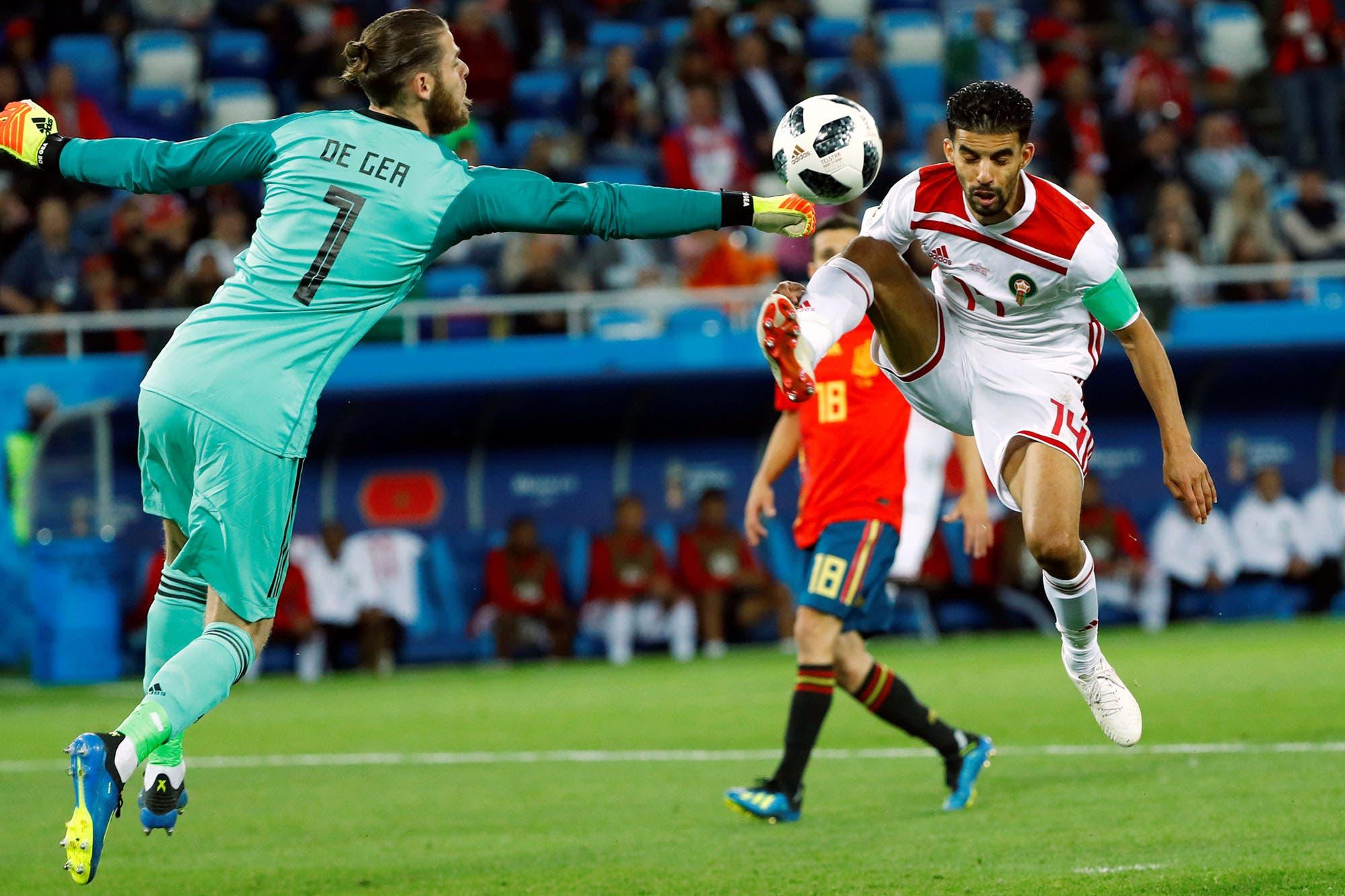 12a745cc166ee Mundial 2018  España empató con Marruecos y se medirá con Rusia en octavos de  final - LA NACION