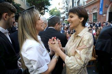 Malena Galmarini y Bárbara Diez en la reinauguración del Museo del Holocausto