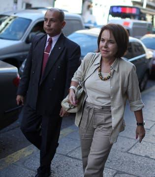Hilda Chiche Duhalde al llegar al Congreso de la Nación. Foto: LA NACION / Aníbal Greco