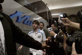 Messi, al llegar al estadio