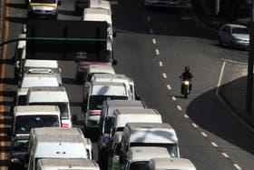 Protesta de transportes privados en Río
