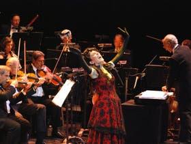 Laura Penchi, en la gala por los 10 años