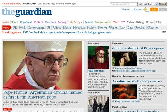 The Guardian, Inglaterra. Foto: Captura de Pantalla