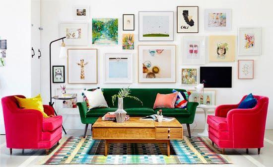 Ideas y consejos para decorar una pared con cuadros