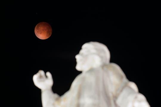 Monumento El Salvador del Mundo en El Salvador. Foto: AFP
