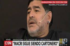 Diego Maradona sobre Mauricio Macri