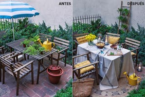 Antes y después: con pocos detalles, un patio cambia por completo