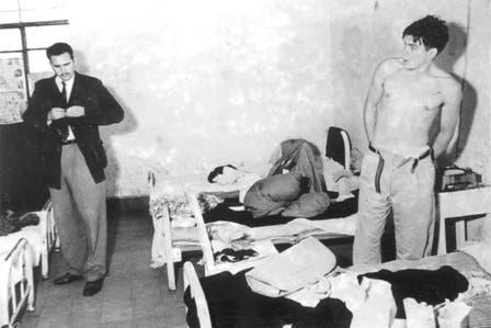 Castro queda en libertad, el Che permanece detenido y Fidel se compromete a obtener su libertad. Foto: Fotografía del libro Che Guevara, la vida en juego