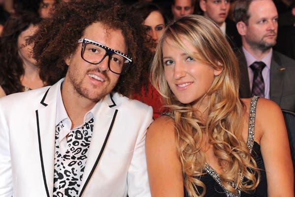 Azarenka, con su novio músico.