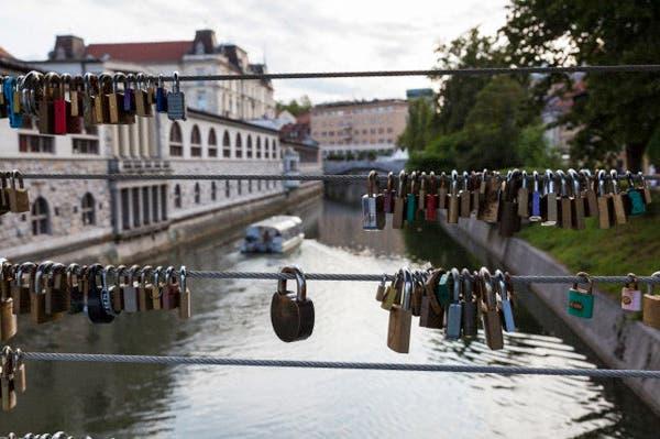 Puente Mesarski en Liubliana, Eslovenia. Foto: Corbis