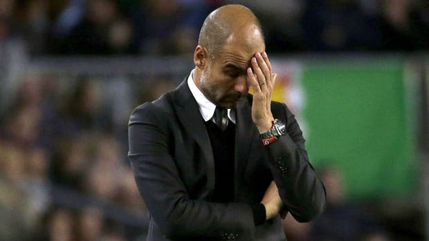 Guardiola frustrado en el Camp Nou