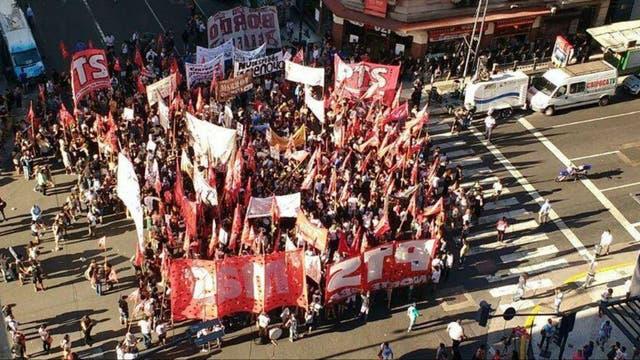 El corte en Corrientes y Callao