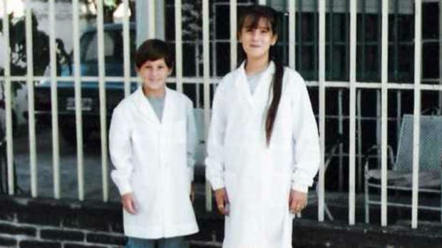 Messi en su época escolar