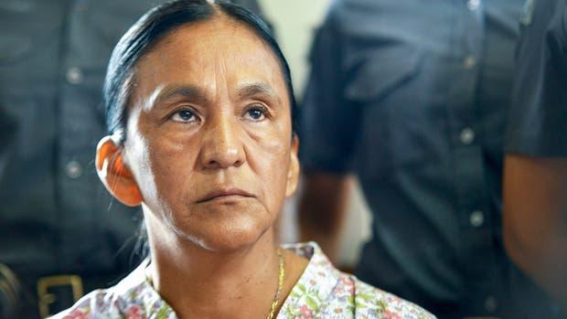 La líder de la Tupac Amaru Milagro Sala, ayer, en la sala de audiencias de Jujuy