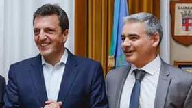 Sergio Massa junto al diputado Ramiro Gutiérrez