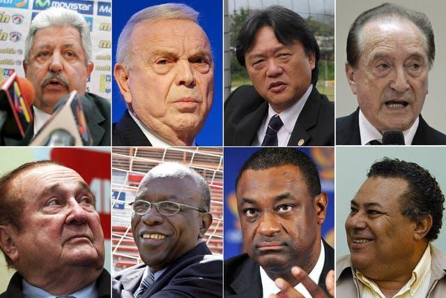 Los implicados en el escándalo de FIFA