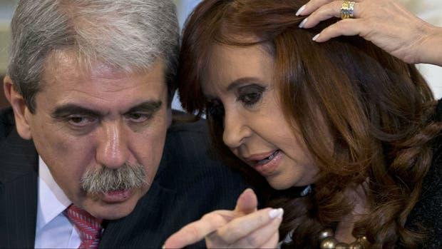 Aníbal Fernández y la presidenta Cristina Kirchner