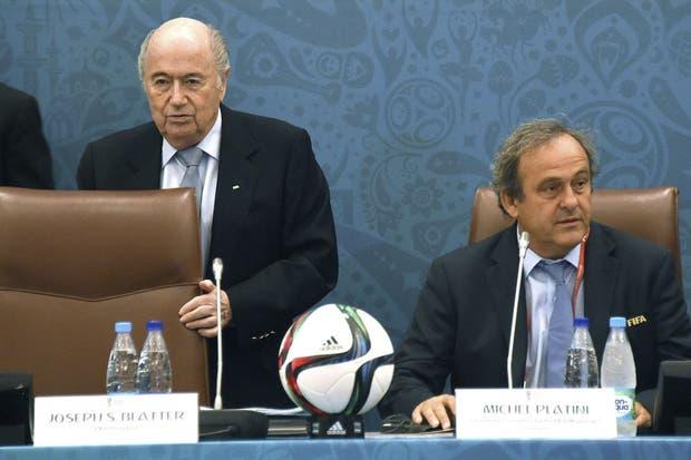 Platini y Blatter, en una de sus últimas apariciones juntos
