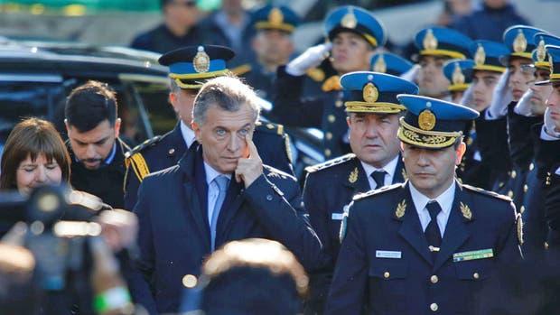 Macri encabeza un homenaje a policías federales caídos en cumplimiento del deber