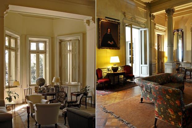 A la izquierda, la sala de reuniones. A la derecha, una vista del living.