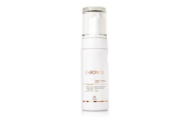 Chronos, espuma de limpieza suave. Remueve el exceso de grasitud en la piel, $375, Natura.