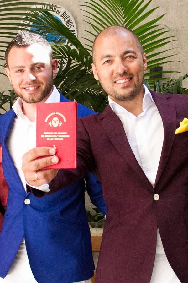 Vadm Kamashew y Kirill Alexandrov, la pareja de ciudadanos rusos que se casó en Buenos Aires