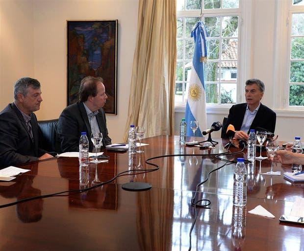 Macri recibió ayer en Olivos a representantes de medios de comunicación alemanes