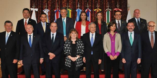 Reunión encuentro Cancillería Palacio San Martín canciller Susana Malcorra Mercosur Alianza del Pacífico