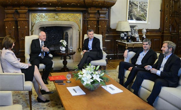 Macri y Lifschitz, con Bullrich, Peña y Frigerio, en septiembre pasado