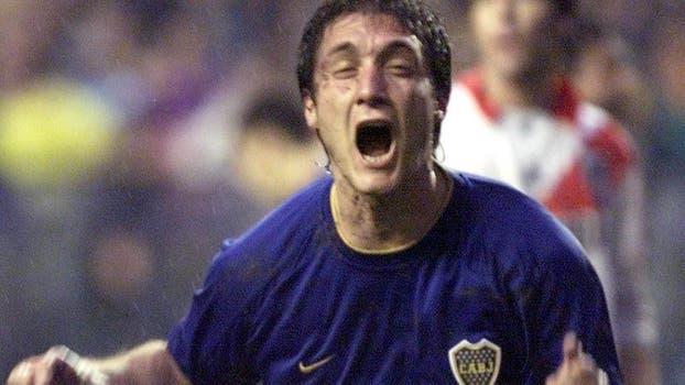 """Barros Schelotto celebra su gol en la """"Bombonera"""", el 14 de mayo. Foto: Archivo"""
