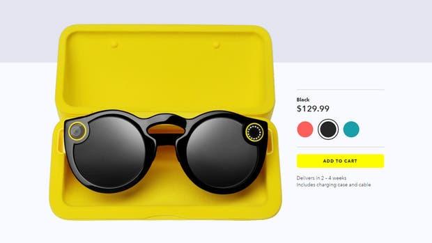 Los Spectacles costarán 130 dólares y estarán disponibles en negro, coral y turquesa
