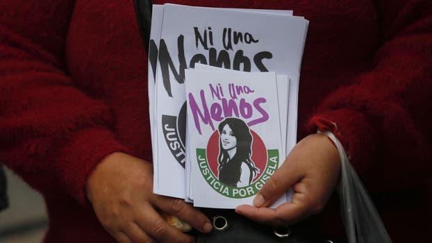 Ni una menos: comienza la concentración previa a la marcha hacia Plaza de Mayo. Foto: LA NACION / Ricardo Pristupluk