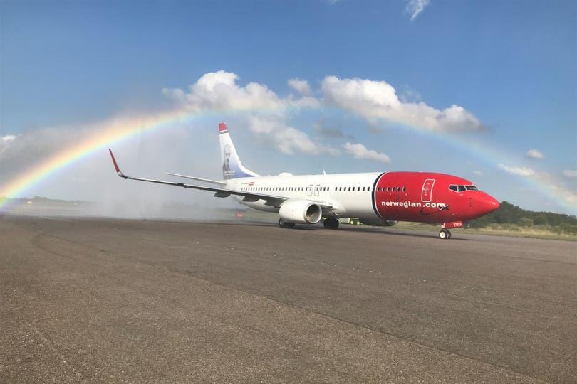 Low costs: Llegó el primer avión de Norwegian a la Argentina