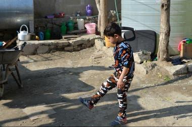 La imagen del chico de 7 años recorrió el mundo