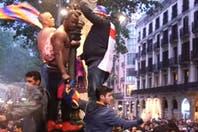 Noche de fiesta: así se celebró el título en las calles de Barcelona