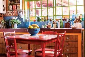 Una casa repleta de color