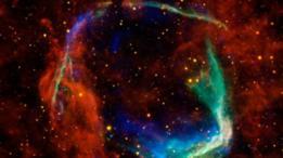 Restos de la supernova RCW86. Cuando las estrellas llegan a la etapa de supernova, suelen morir en una única explosión.