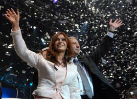 Otros tiempos. Cristina Kirchner y Julio Cobos en agosto del año pasado
