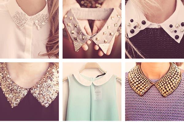 Cuellitos con tachas, perlas y paillettes (desde $100 apróx).