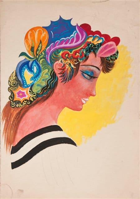 Sin título, c. 1969, pintura s/papel