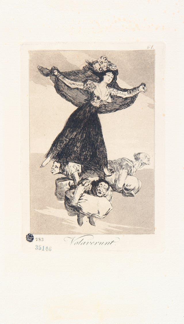 Volaverunt, de la serie Caprichos (1797-1798), colección MNBA