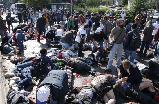 Escena dantesca en el centro de la ciudad turca