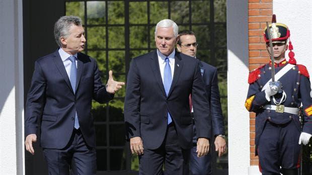 El presidente Macri y el vicepresidente de EE.UU., Mike Pence, que se llevó de su reciente visita a la Argentina un acuerdo para avanzar en la importación de carne de cerdo
