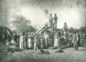 Trilla de maíz, por Gastón Bourquín, circa 1915